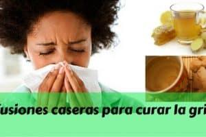 Infusiones caseras para curar la gripe