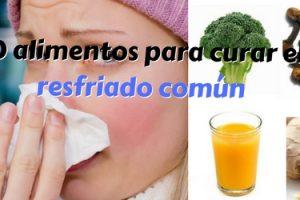 alimentos para curar el resfriado común