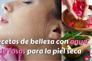 Recetas de belleza con agua de rosas para la piel seca